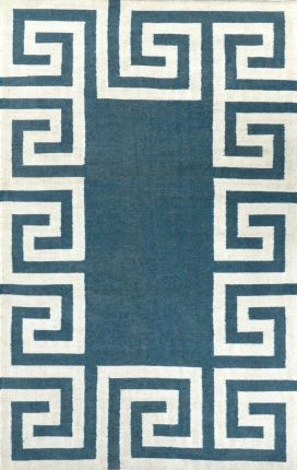 Tuscan Indoor Outdoor Flatwoven Greek Key VS120 Mint Rug   Contemporary Rugs- Crazy cheap area rugs