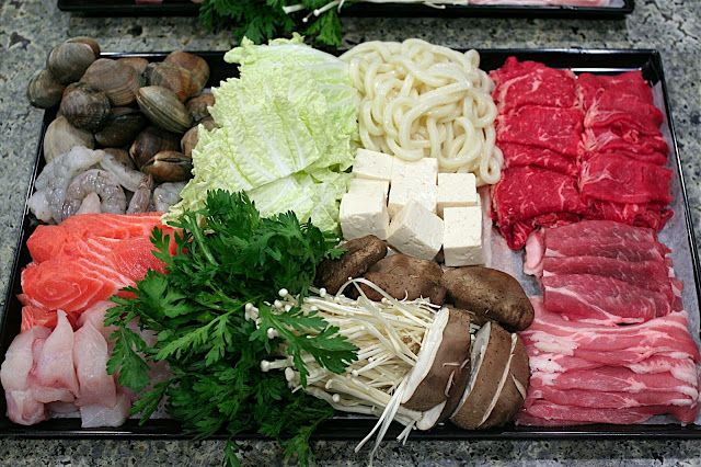 FOODjimoto: Shabu Shabu recipe along with dipping sauce recipe (I made this 02/14/2014, the sauces were amazing! I used beef, clams, shrimp, fake crab, napa cabbage, carrots, mushrooms, bok choy, tofu and noodles.  Everyone raved about it.)