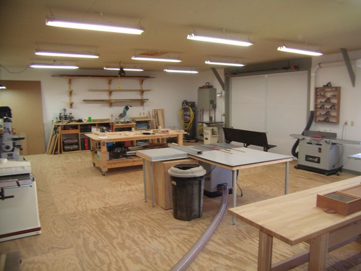 Wood shop layout ideas if you want to learn wood working for Shop plans and designs
