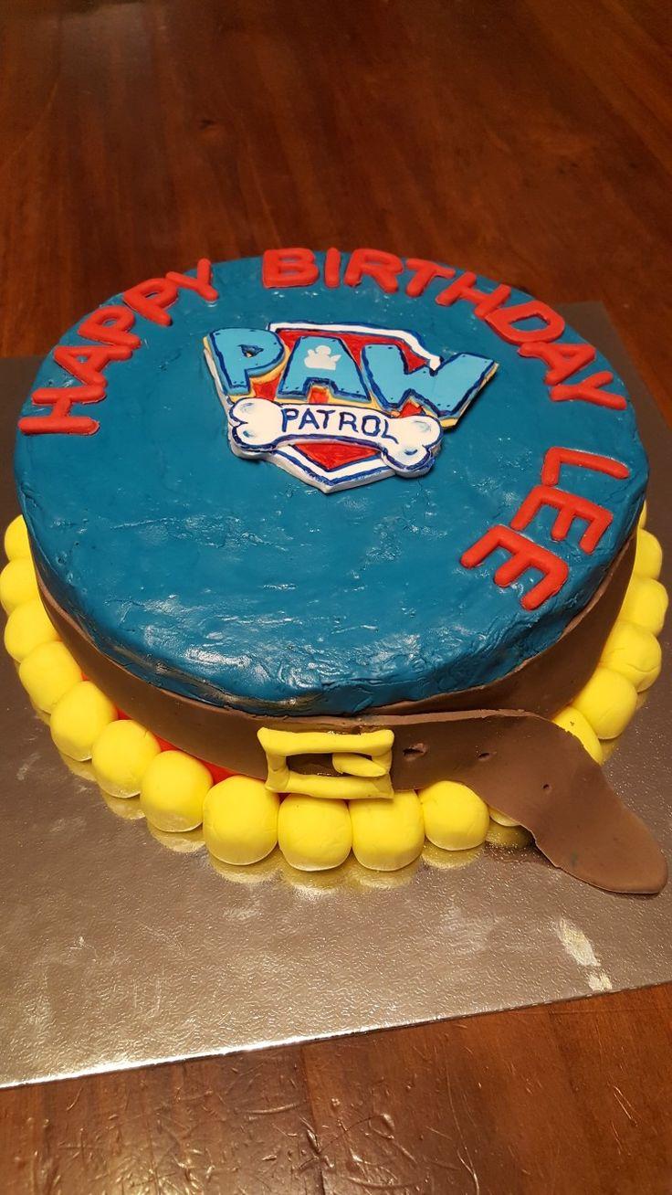 Paw Patrol homemade cake