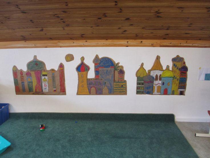 Kindergartendeko Orient Gruppenarbeit Märlimuus: März 2014