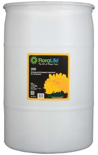 Floralife® 200 Storage & Transport treatment, 30 gallon, 30 gallon drum