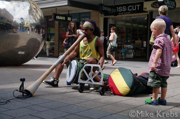 Buskers are Everywhere in Rundle Mall and they make for a Great Atmosphere, Adelaide