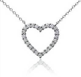 Heart Diamond Pendant #Valentines Day Gift idea