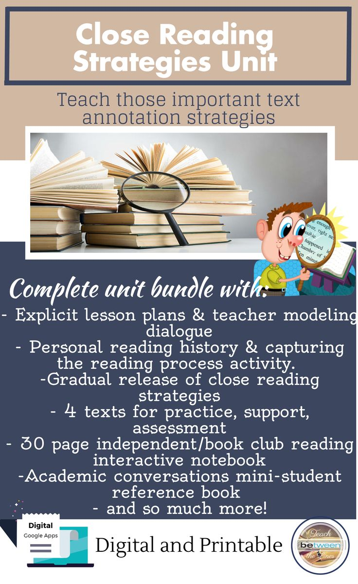 Close Reading Strategies (text Annotation To Support Readingprehension)