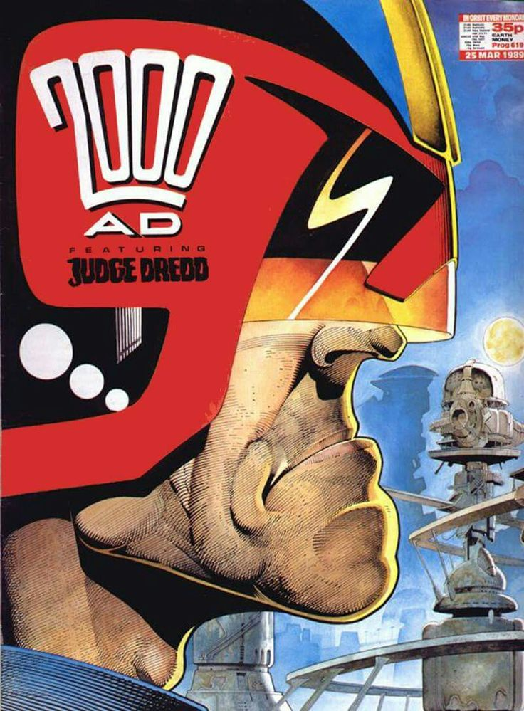 CLASSIC COVER: Judge Dredd by Cliff Robinson for 2000 AD Prog 619 (25th March…