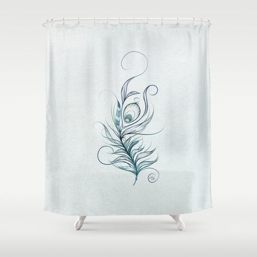 Completely new Peacock and Peacock Feather Shower Curtain CB29