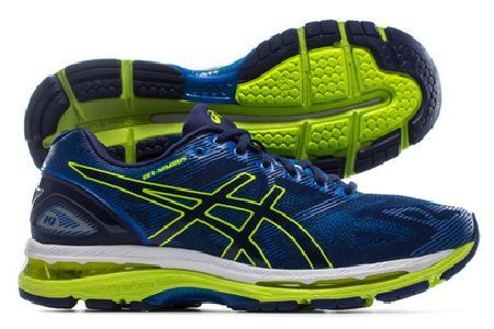 ASICS Gel Nimbus 19 Mens Running Shoes Run the last mile is just as comfortable as the first with these Gel Nimbus 19 Running Shoes in Indigo Blue, Safety Yellow and Electric Blue from Asics.These Gel Nimbus 19 has all the normal high qual http://www.MightGet.com/february-2017-2/asics-gel-nimbus-19-mens-running-shoes.asp
