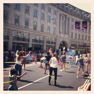 Hoola Hoop FUN on #regentstreet #summerstreets by wfm_piccadilly