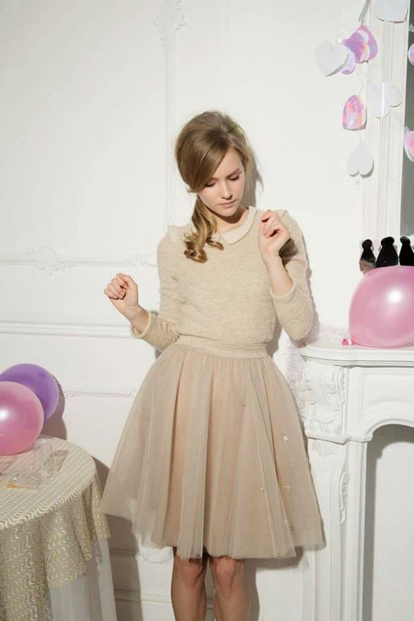 peter pan collar + skirt = the best winter party dress
