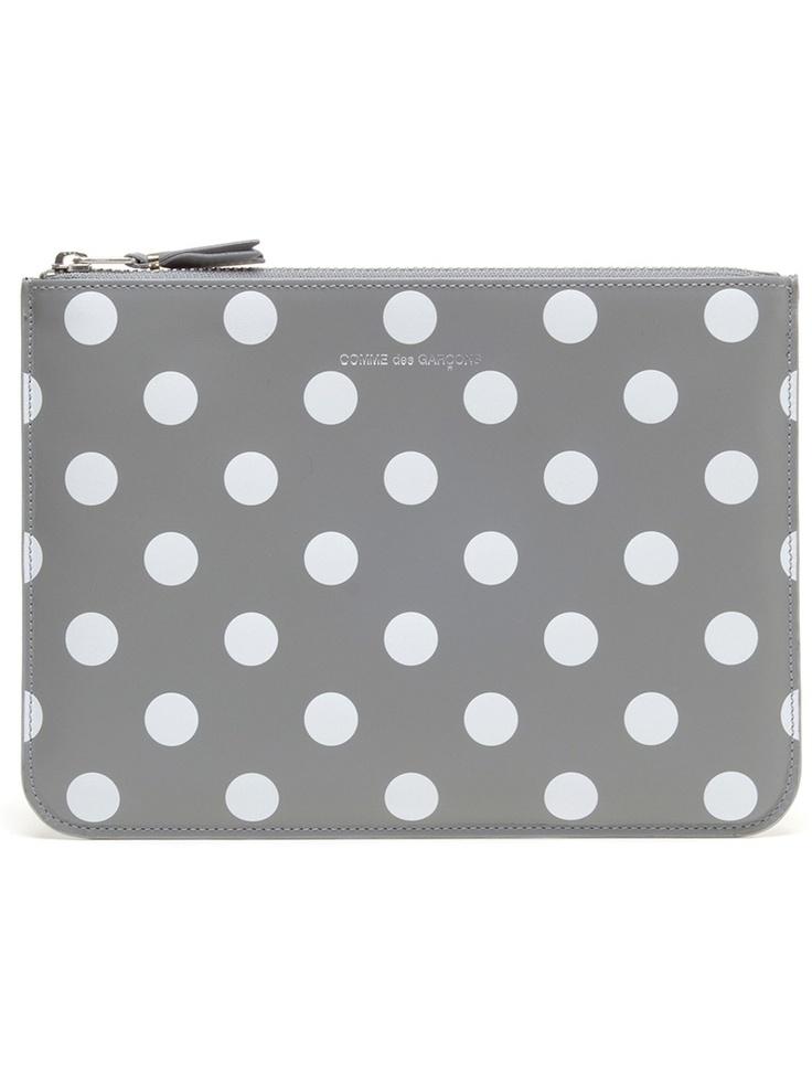 polka dot leather clutch / comme des garcons