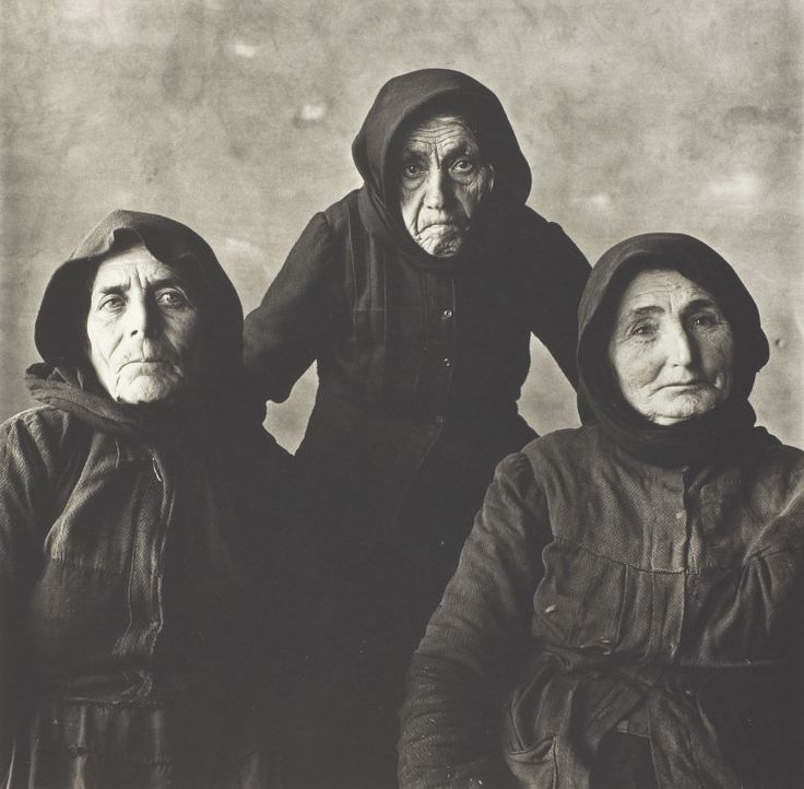 """Three Cretan Women"", by Irving Penn (1964) The Art Institute of Chicago"