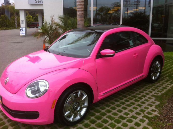 2013 New VW Beetle pink; idk, I might just do it one day for breast cancer awareness;