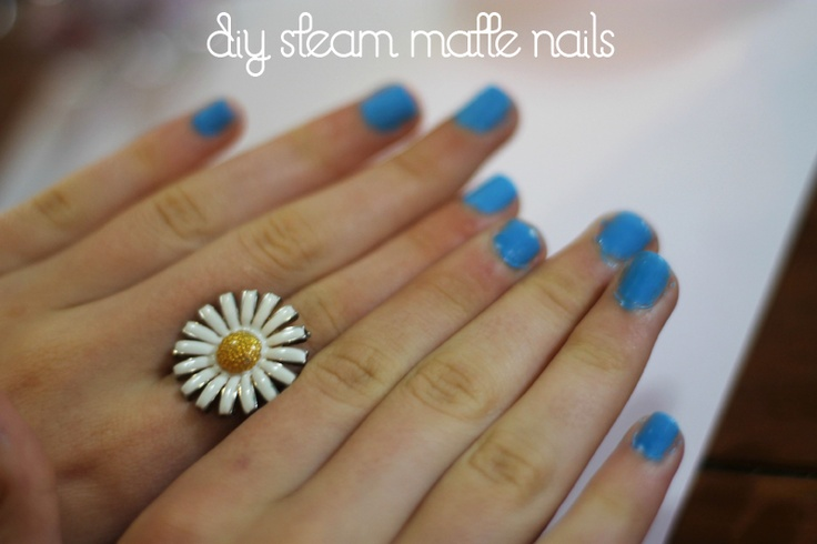 how to make matte nail polish without eyeshadow