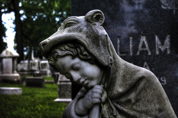 adoring the grave
