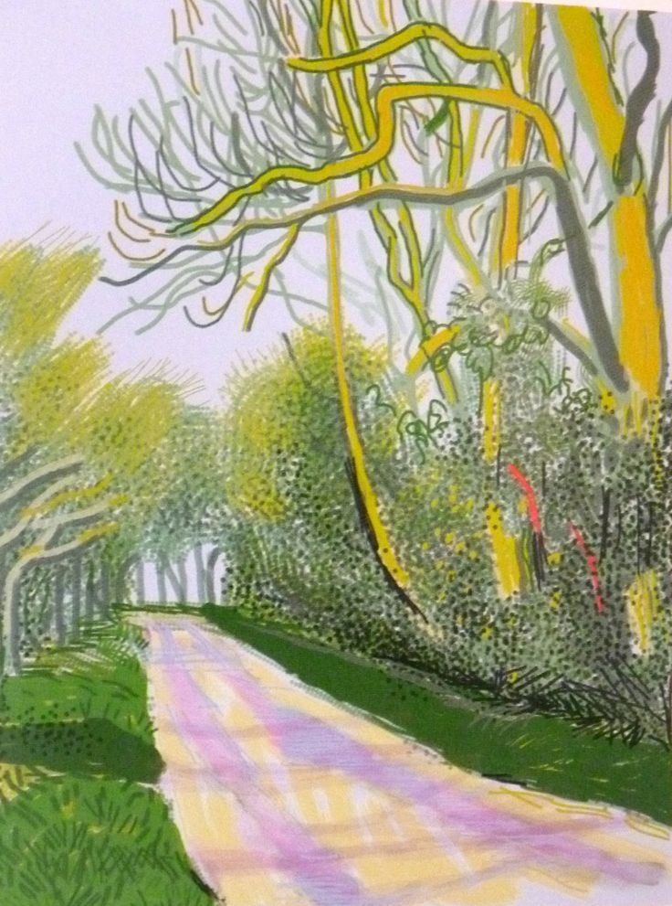 by David Hockney, oil on canvas 91.4 x 121.9 cm. Way to think ahead!