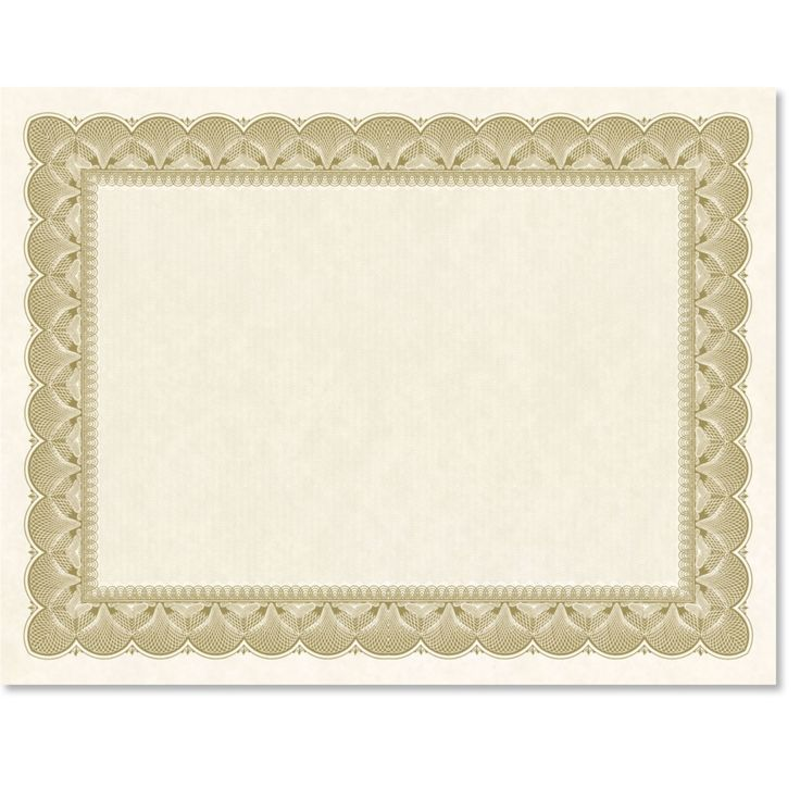 Traditional Metal Colored Standard Certificates| Paper Direct