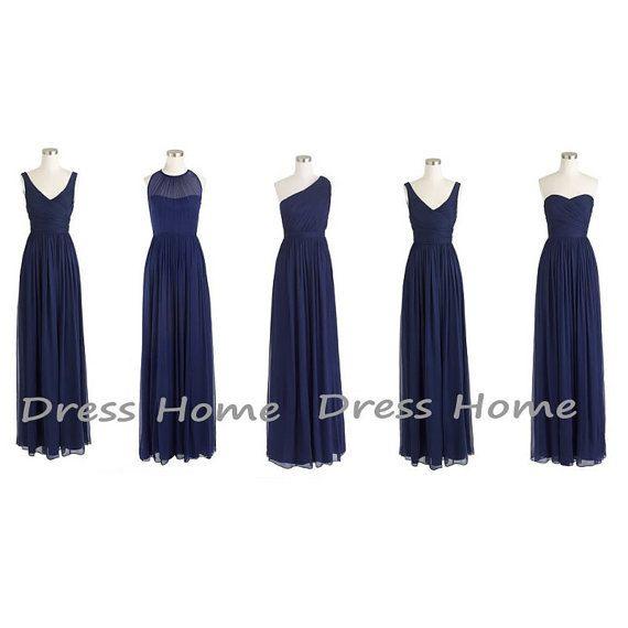 Blue Bridesmaid Dress Long Bridesmaid Dress by DressHome on Etsy, $119.99
