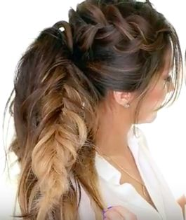 Nice Braided Hairstyle For Long Hair Tutorial - The Mohawk Pony Tail Braid! #braid #hair #beauty #ponytail #hairstyles