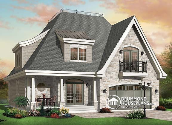 Fall under the spell of this charming enchantress for Castle style house plans