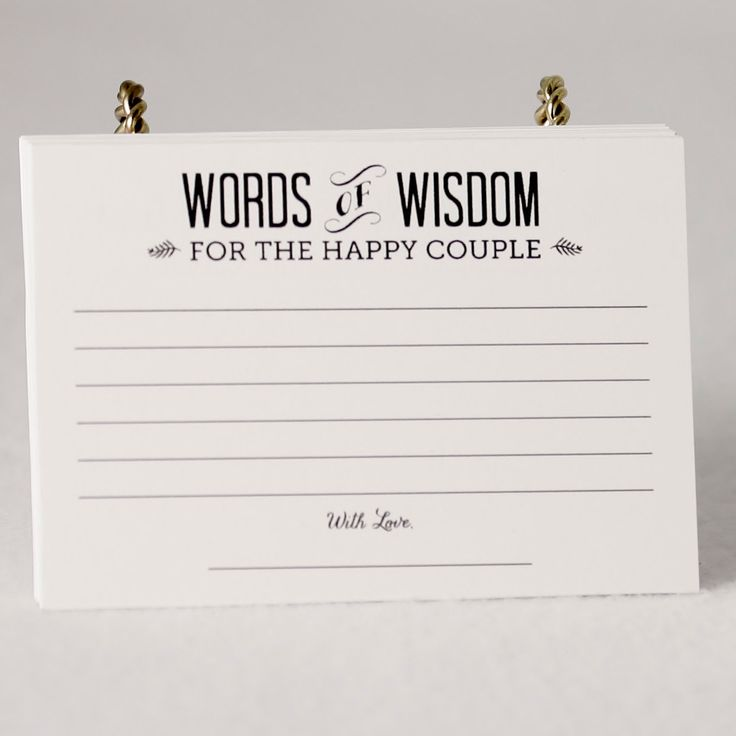 Alternative Wedding Guest Book set of 36 Advice Cards - pinned by pin4etsy.com