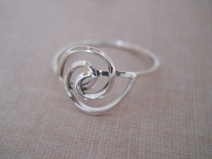 Sterling Silver Ring- Swirl Ring- Sterling Silver Ring