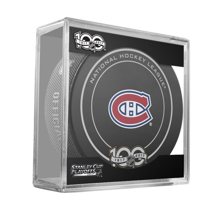 MONTREAL CANADIENS 2017 Stanley Cup Playoffs OFFICIAL GAME PUCK 100th Ann. NEW #Sherwood #MontrealCanadiens