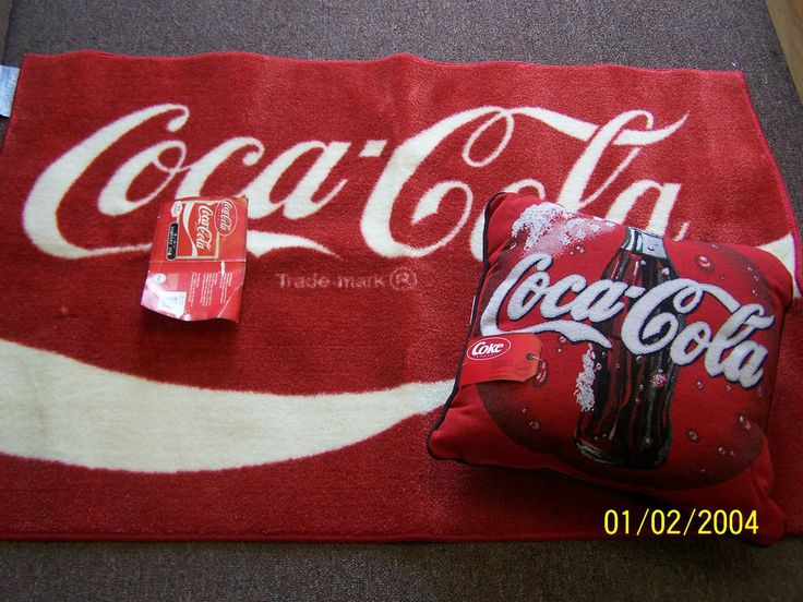 Coca Cola Scatter Rug U0026 Tapestry Pillow