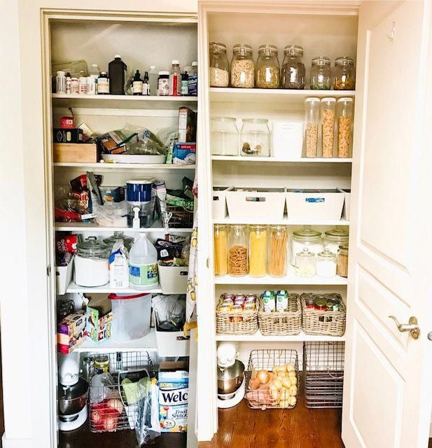 small pantry organization before and after pantry makeover luxurykitchen small pantry on kitchen organization before and after id=43148