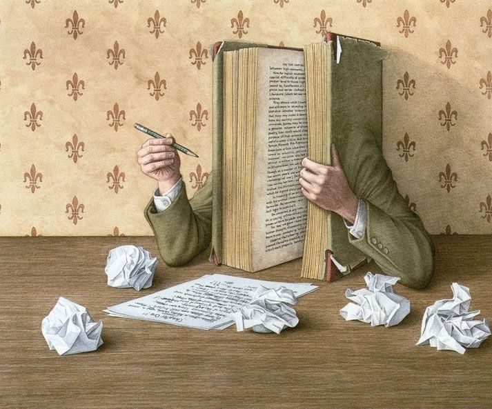 The Author at Work by Jonathan Wolstenholme
