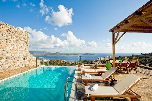Elounda Solfez Villas are self catering accommodation in Elounda, Crete, Greece. They were built late in 2009, in a traditional style and combine bright earthly colors with natural stone (the local stone of Elounda, collected during the building