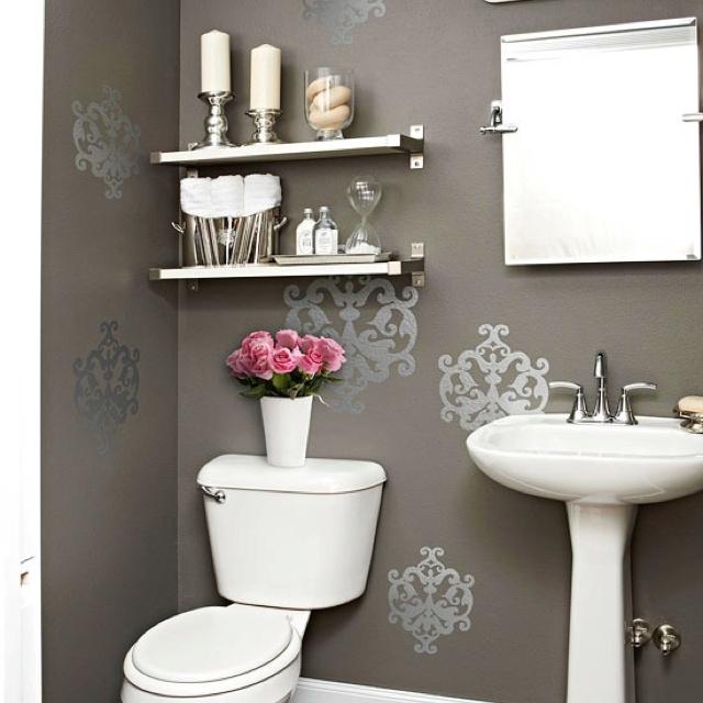 Restroom decor (like the shelf's )