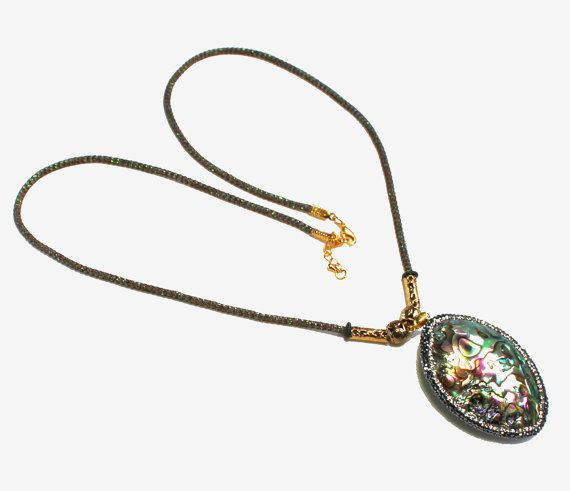 Verklaring ketting Fashion Jewelry Shell door BEADEDNECKLACESHOPPE