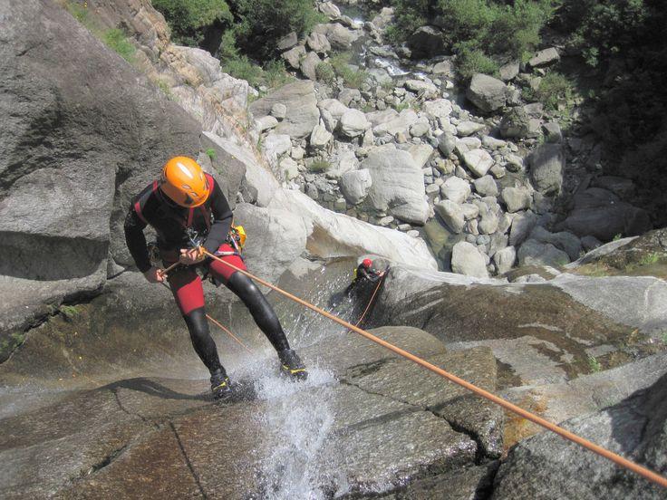 Escursione #Canyoning in Val d'Ossola Luogo: Piemonte, Vanzone con San Carlo (VB)