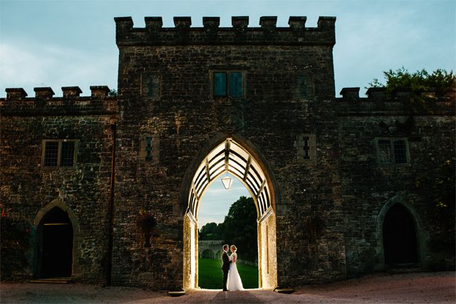 The Amazing Portcullis at Clearwell Castle Wedding Venue, Gloucestershire