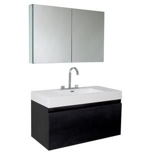 Shop for Fresca Mezzo Black Bathroom Vanity with Medicine Cabinet. Get free delivery at Overstock.com - Your Online Furniture Outlet Store! Get 5% in rewards with Club O! - 13302523