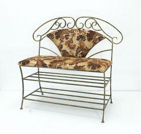 Кованая мебель :: Пуфы, банкетки, стулья, диваны :: Диваны и скамьи :: Скамья мягкая со спинкой (диван) 005/ДС1/154
