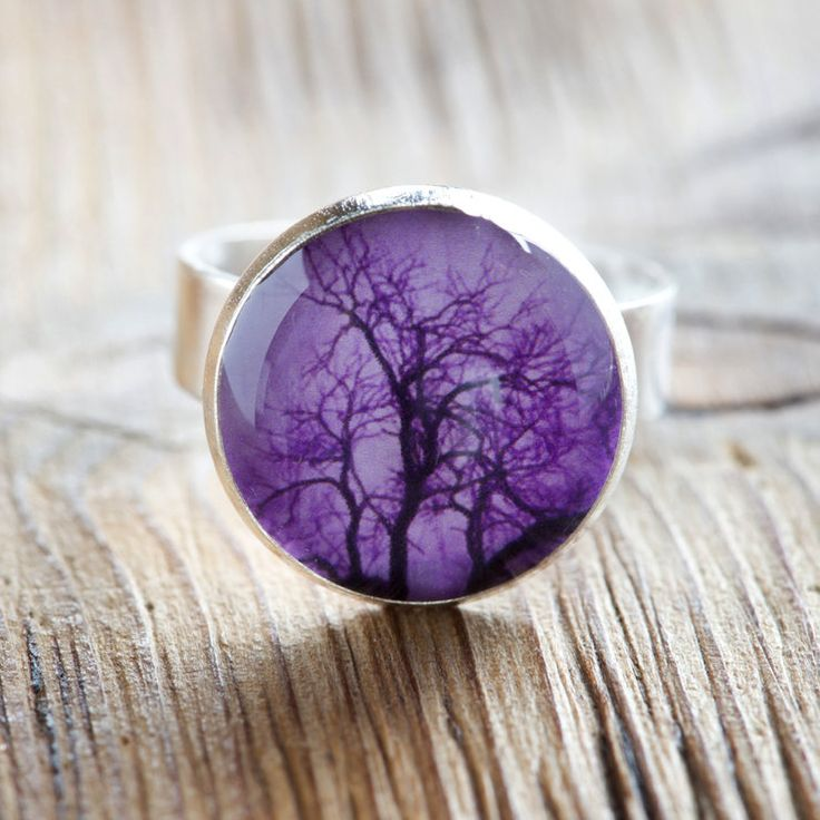 """""""Forest in my Heart"""" Ring - Tree, Purple by Natascha van Niekerk Fine Art Photography for sale on http://hellopretty.co.za"""