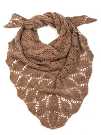 Shawl knitting pattern for leaf FINE scarf.