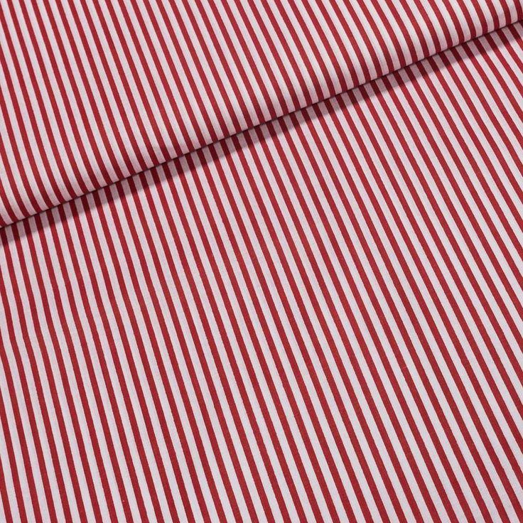 Bavlněné plátno 9875 RED červeno-bílý proužek, š.140cm (látka v metráži) | Internetový obchod Chci Látky.cz