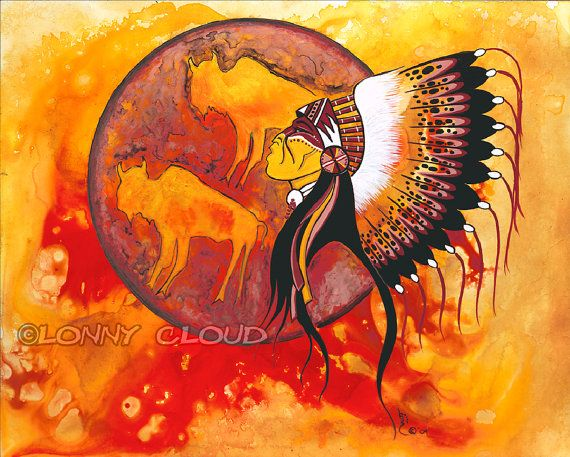 Lonny Cloud (Lumbee) Native American Fine Art Giclee by ThunderPuppyArt