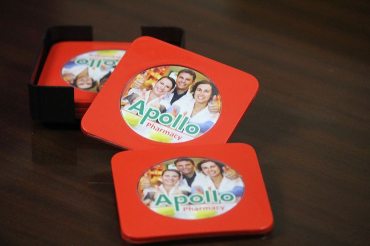 Set of 5 Coasters with a holder