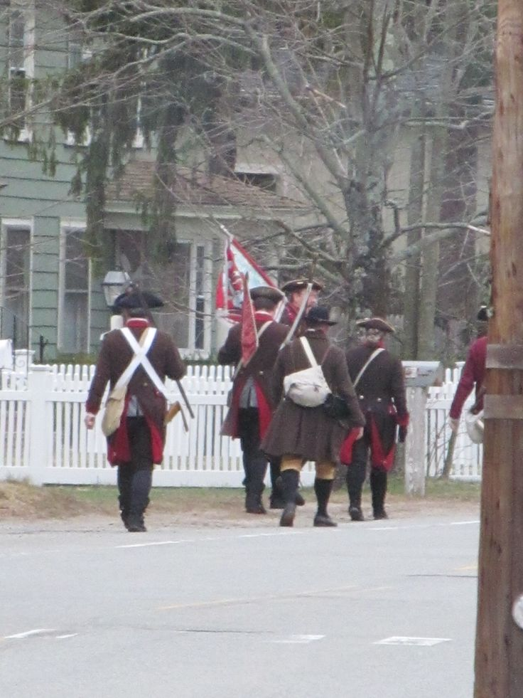 Bedford, MA Minutemen on Patriots Day 2015