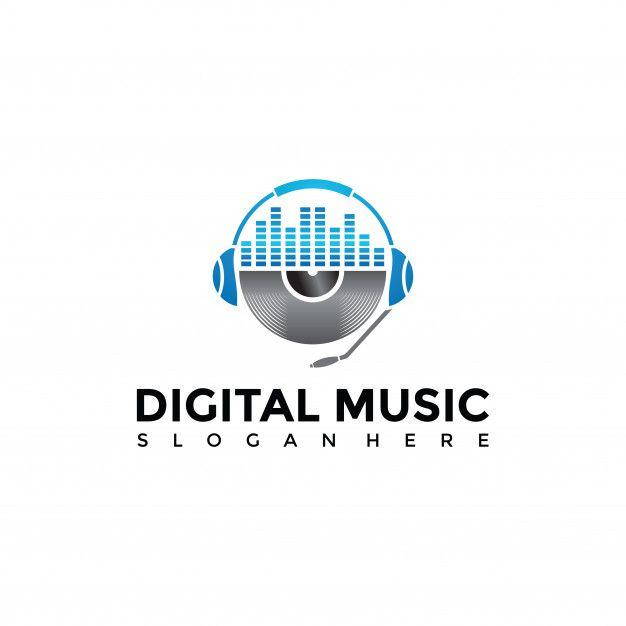 Digital Music Apps Logo Template Logo Templates Dj Logo Music