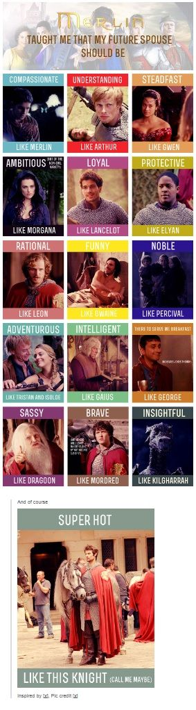 But really, I just want someone like Arthur or Merlin. They both have all the other stuff listed. --Description by DestinyandDoom