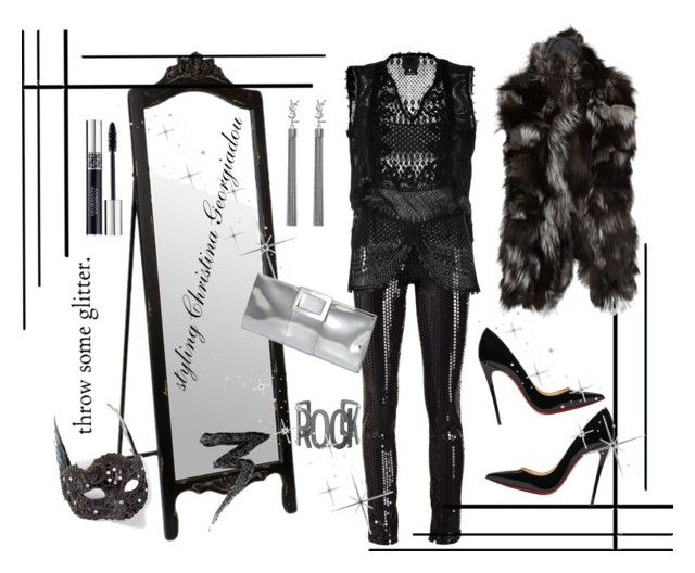 Glam rocks! by christina-geo on Polyvore featuring mode, Anna Sui, S.W.O.R.D., Vera Wang, Christian Louboutin, Roger Vivier, Yves Saint Laurent, Steve Madden, Christian Dior and Manic Panic NYC
