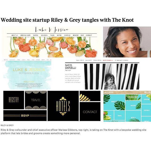 wedding site startup riley grey tangles with the knot hey