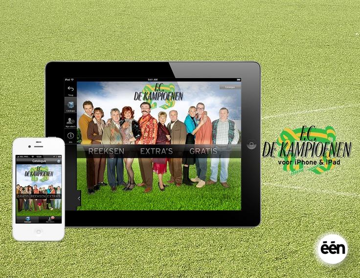 VRT: Video-on-demand app voor het populaire één-programma 'F.C. De Kampioenen'