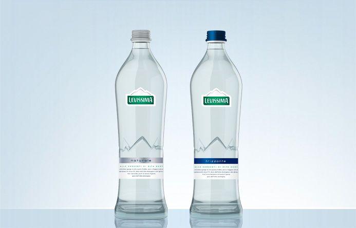La gamma di bottiglie Levissima dedicate alla ristorazione