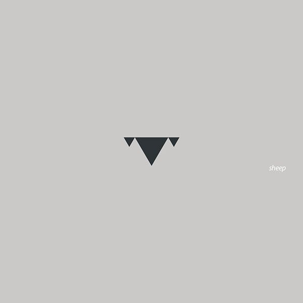 Sheep Logo minimal triangles M.rasoulipour